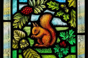 Red squirrel panel for Prince Charles