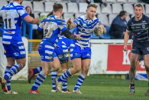 Halifax drew with Championship rivals Featherstone Rovers in their final warm-up game. They start the competitive season against Widnes Vikings on Sunday afternoon. PIC: Simon Hall.