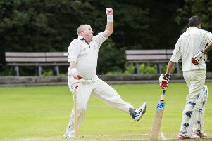 Roger Smith bowls for Triangle on Sunday but his three wickets weren't enough