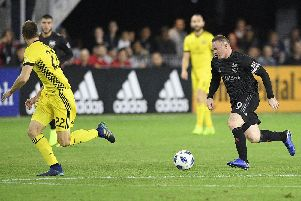 Wayne Rooney in action for DC United