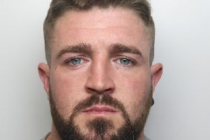 Stefan Carr was caught on camera put a noose around his partner's neck and lifting her off the ground during attack at his home in Castleford.