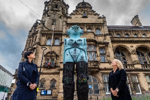 Huma Bhabha's Receiver sculpture has been removed from Wakefield city centre as  the first Yorkshire Sculpture International comes to an end