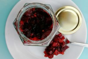 Pear and beetroot relish