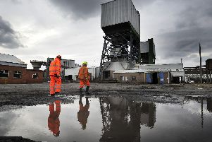 Era ends: Contractors from Hydroblast, Northallerton, have been the last in the pit shafts preparing the way for UK Coal to cap the shafts with concrete sealing the mine forever.