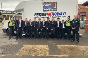 Students were given a taste of jail as part of a shock project to educate them on the consequences of turning to crime.