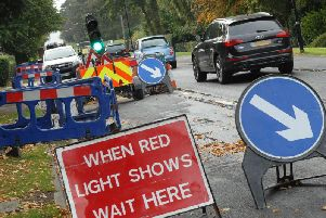Temporary traffic lights are expected to be in place until next week on Thornes Road in Wakefield. Stock image.