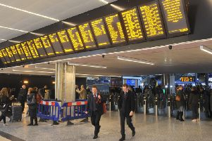 Huge train delays are expected throughout the day after two trains collided near Leeds Station. Stock image.