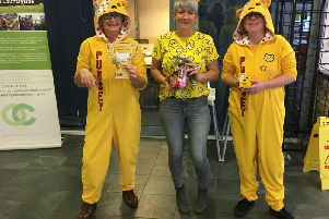 Staff at the Country Park's reception and cafe scrapped their uniforms and dressed in their Pudsey best.