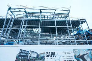 The new CAPA college home is under construction.