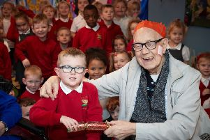 Early years pupils at Wrenthorpe Acadmey enjoyed a Christmas party with people from the nearby residential home.