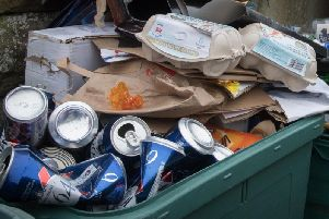 The proportion of all household waste being recycled fell last year.