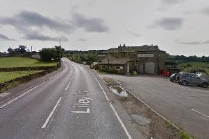 The accident happened near The Hare and Hounds on Liley Lane, near Huddersfield
