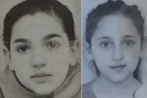 Missing children Bernadett Berki (left) and Szimonetta Berki (right).