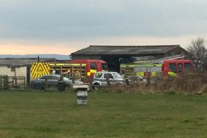 The fire service was called to an incident at Runtlings Lane, Ossett. Photo: Ian Day