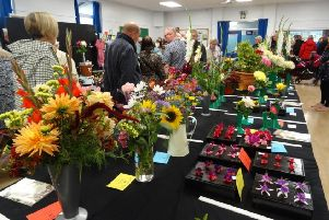 Flowers in bloom at Wrenthorpe Show.