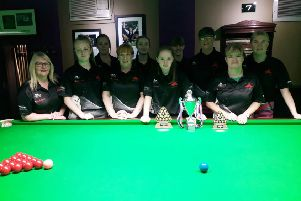 All the competitors who took part in the 2018 Yorkshire Ladies Championships.