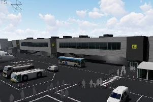 An artist's impression of the new terminal