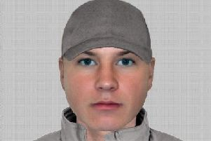 An E-Fit image of the man police are trying to trace.