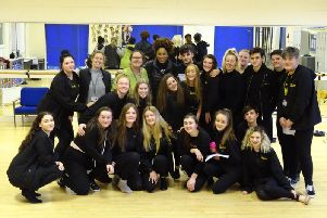 Judine Somerville has spent two weeks working with pupils at Airedale Academy.