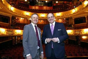 Matt Smith, Chief Executive of Key Fund with the Minister for Arts, Heritage and Tourism, Michael Ellis at Wakefield Theatre Royal.  Picture: Richard Doughty Photography
