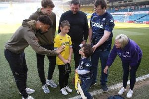 Ethan Blackburn meets Leeds United stars Tyler Roberts and Patrick Bamford.