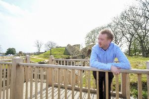 Ian Downes (Programmes a& events Officer) at Pontefract Castle. Picture Scott Merrylees