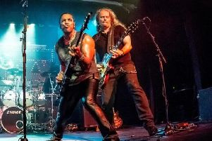 Wayne Ellis and Greg Alcock from Thin Lizzy tribute band Limehouse Lizzy