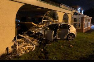 A 'slight bend' ruined this driver's night. Photo: West Yorkshire Police / WYP_RPU