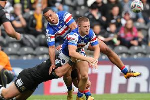 Wakefield Trinity's Ryan Hampshire in action against Hull FC (SWPix)