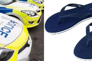 Driving in flip flops could get you into trouble.