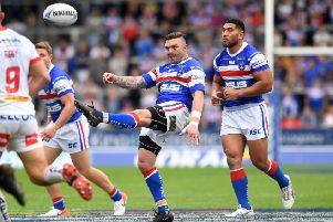 Wakefield's Danny Brough back in action against St Helens.