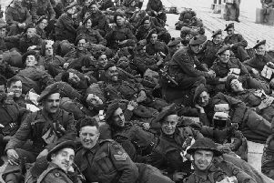British soldiers of the RAMC (Royal Army Medical Corps) during the Normandy Landings, June 1944.
