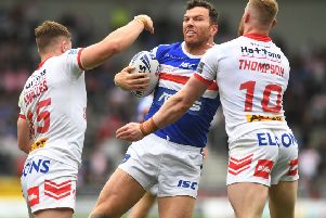 Wakefield Trinity forward Keegan Hirst is out of contract at the end of the season. PIC: Jonathan Gawthorpe/JPIMedia