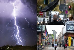 Heavy showers and thunderstorms are expected to cause travel disruption in Wakefield tomorrow.