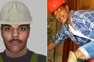 Kamara tweeted a picture of himself in a hard hat and construction gear following the release of the efit. (Humberside Police/@chris_kammy)