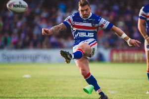 Danny Brough opened Wakefield's scoring with a penalty goal. PIC: James Heaton.