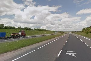 Mary Graham died on the A1(M) in Durham earlier this month as she travelled back from Newcastle where she had been watching her nephew play rugby. Photo: Google Maps