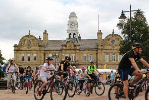 Over 100 people took part in the ride.