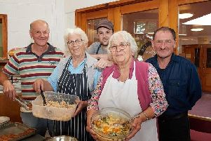 Wakefield's night shelter at Wakefield Baptist Church is 10 years old.'Flo Bradley, Kath Pacey, David Taylor, Matt Haselhurst and Stephen Whiteley