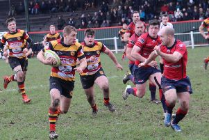 Sam Bottomley scored a try just before the break for Harrogate (Photo: David Aspinall)