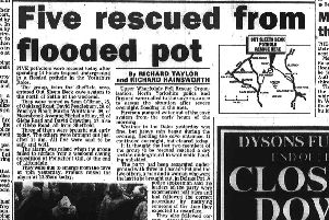 On this day in Yorkshire 1988: Five rescued from flooded pot