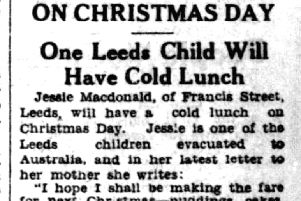 Christmas stories from the archives: One Leeds child will have a cold Christmas lunch