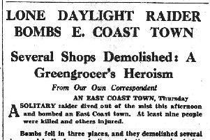 On this day in 1941: Lone daylight raider bombs East Coast town