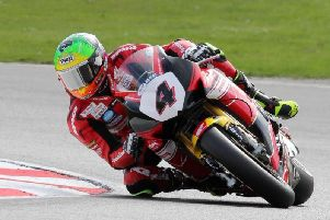 Knaresborough superbikes rider Dan Linfoot