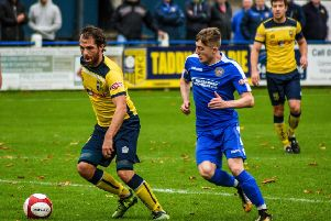 Pete Davidson in action during Tadcaster Albion's home loss to Skelmersdale. Picture: Matthew Appleby