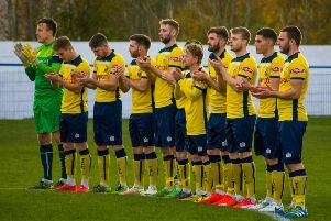 Tadcaster Albion were 1-0 winners at Glossop North End. Picture: Matthew Appleby