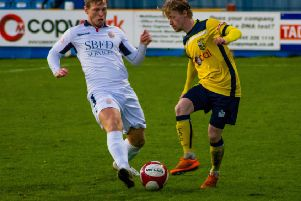 Conor Sellars was on target for Tadcaster in Saturday's 1-1 draw with Trafford. Picture: Matthew Appleby