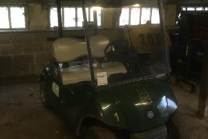 Two golf buggies were stolen from the club at Knaresbrough.