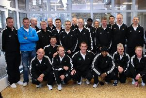 The Harrogate Veterans squad ready to fly out to Thailand in 2008.