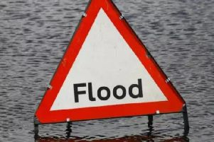 Flood warnings are in place.